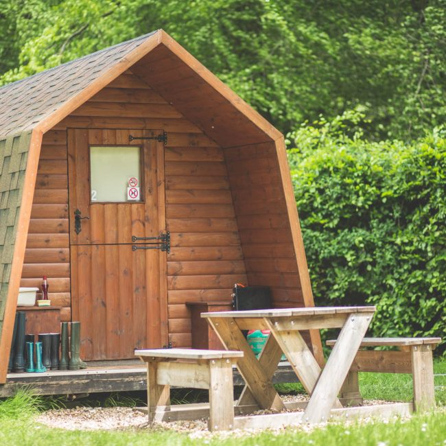 Camping pods at Forest Glade in Devon 2