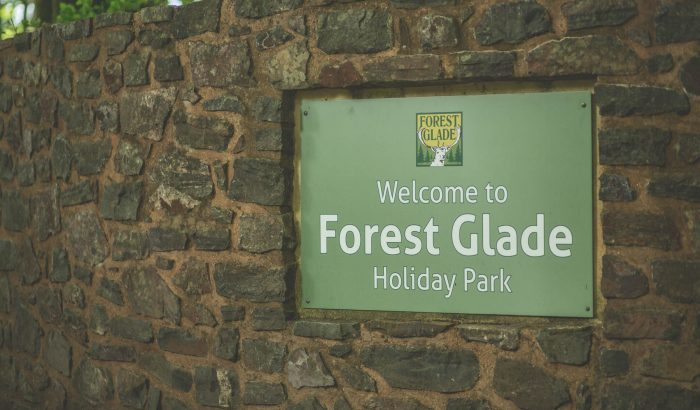 Forest Glade Holiday Park Welcome Sign