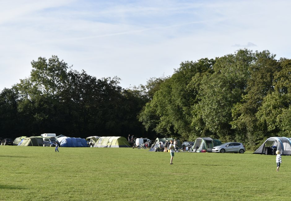 Camping at Forest Glade Five Acre Field