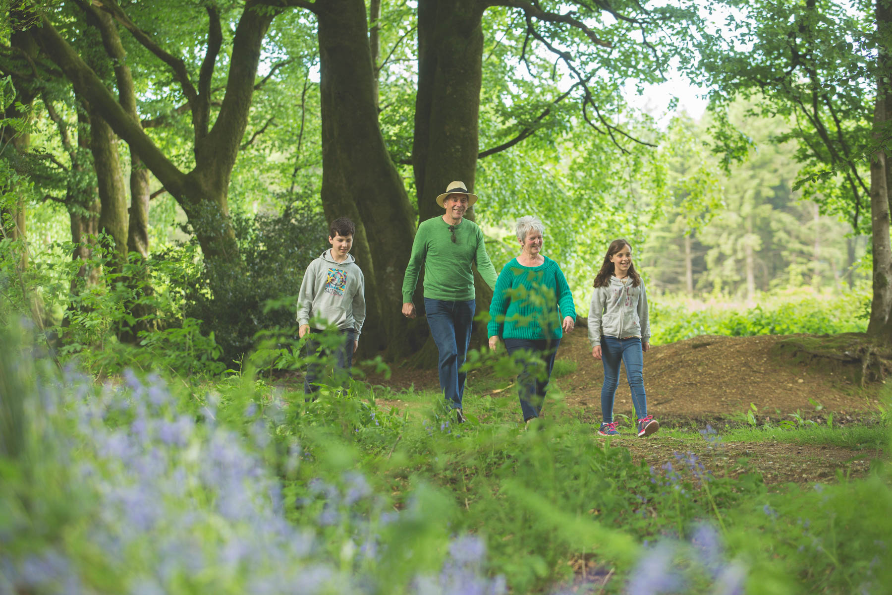 Forest family walk