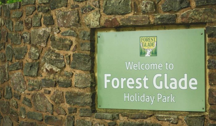 Forest Glade Welcome sign