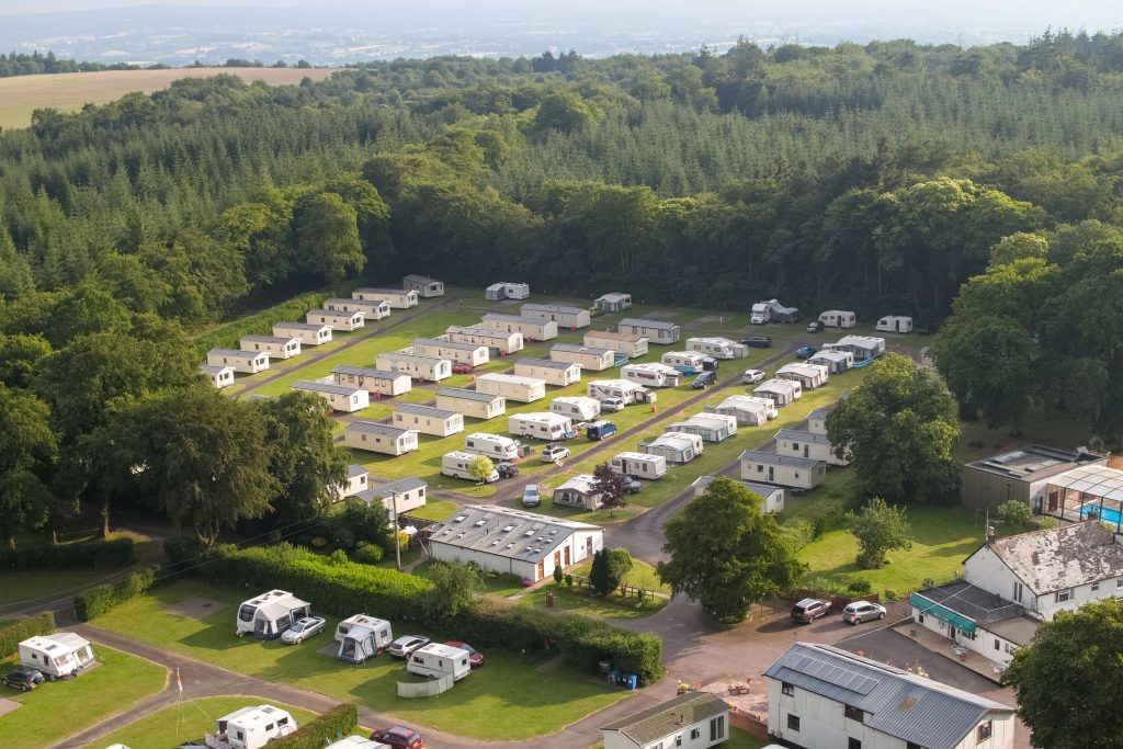 Aerial shot Holiday Caravans
