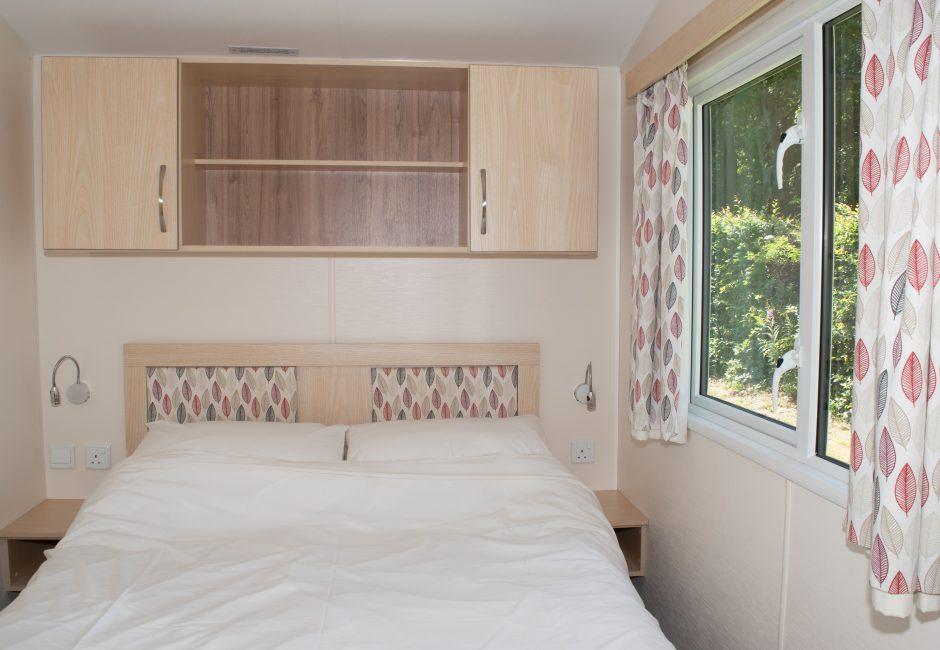 Blackdown Caravan at Forest Glade Double Bedroom