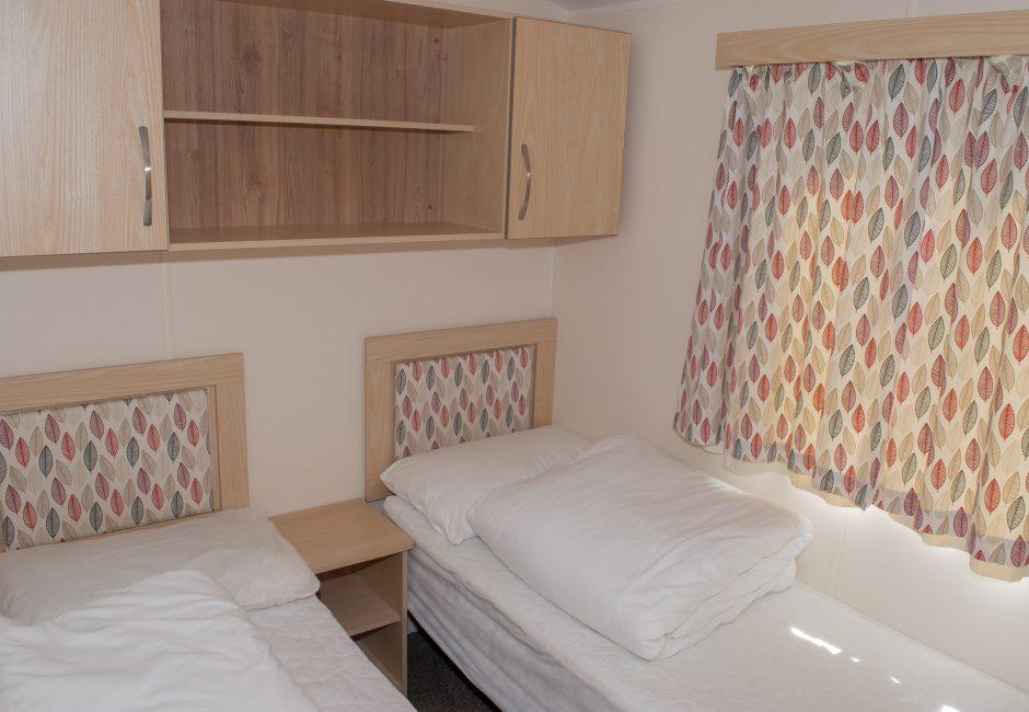 Blackdown Holiday Caravan Devon at Forest Glade Twin Bedroom