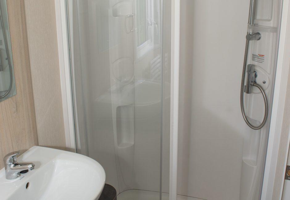 Culm Caravan Bathroom at Forest Glade