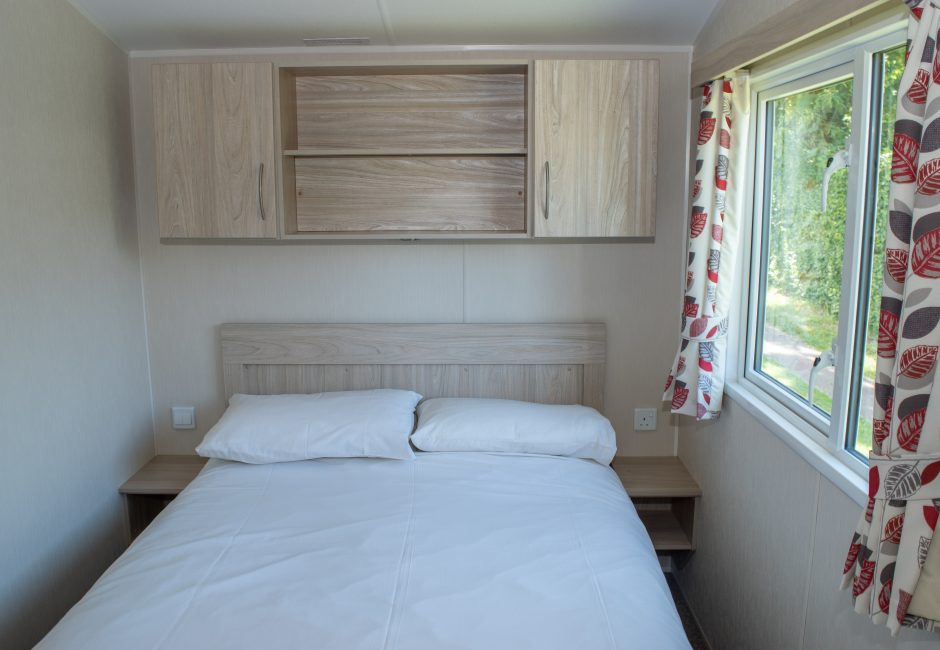 Culm Caravan Double Bedroom at Forest Glade
