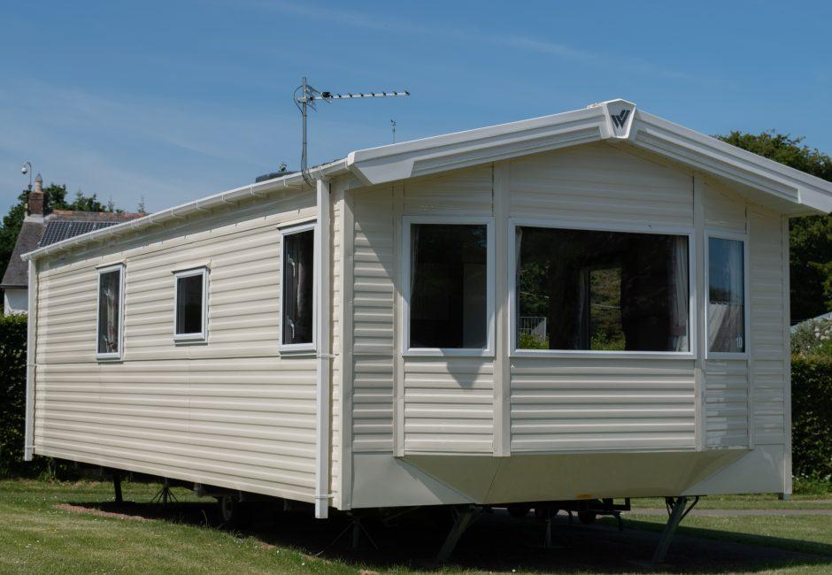 Culm 2 Holiday Caravan Devon Exterior at Forest Glade