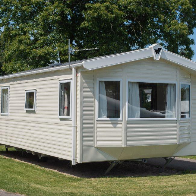 Culm 3 Holiday Caravan Devon Exterior at Forest Glade