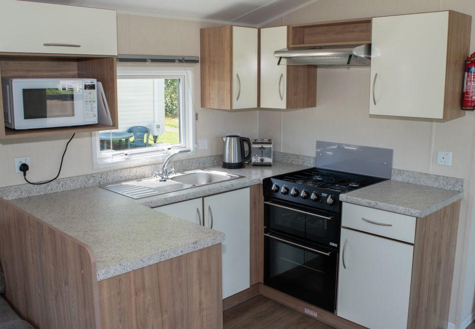 Culm Caravan Kitchen at Forest Glade