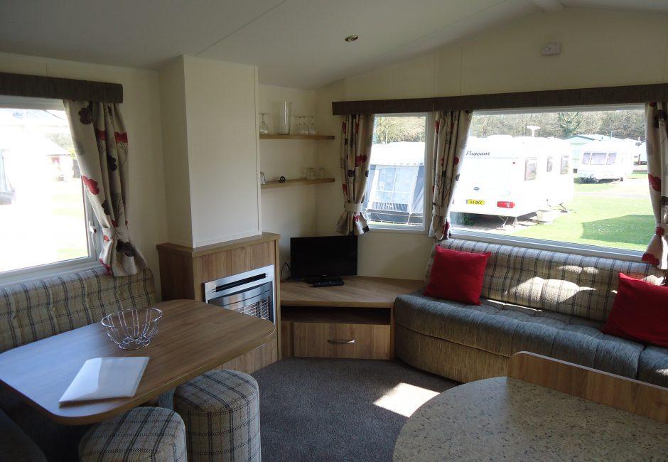 Culm Holiday Devon Caravan Lounge at Forest Glade