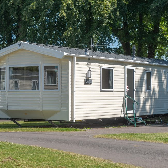 Exe Super Holiday Caravan Devon Exterior at Forest Glade