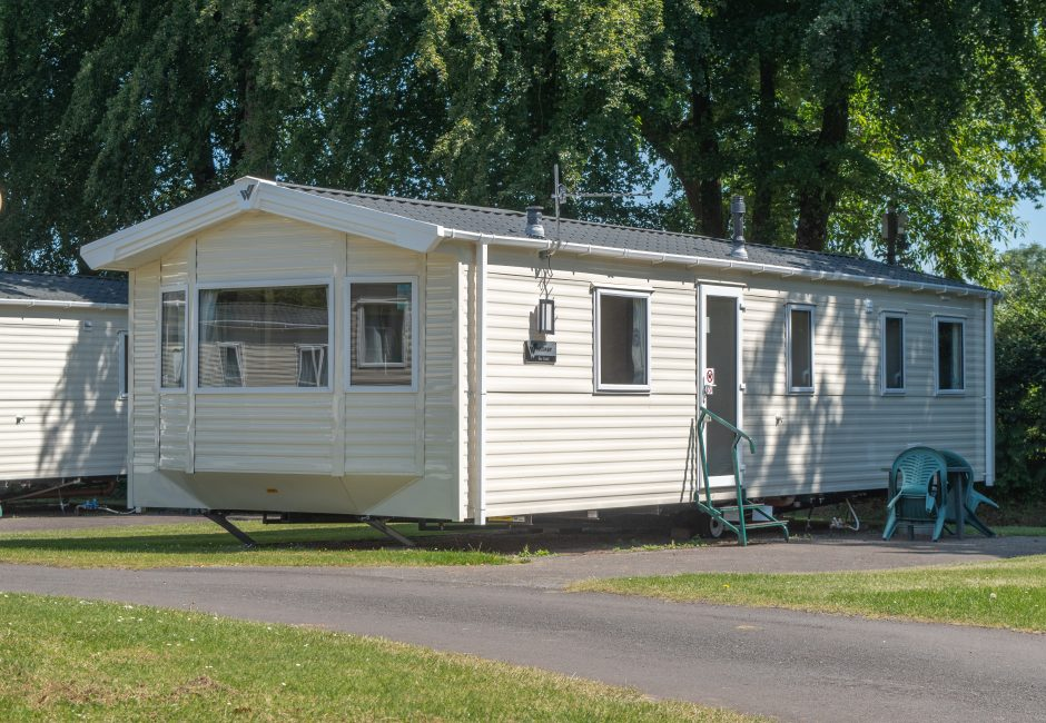 Exe Super Holiday Caravan Devon Exterior at Forest Glade. Caravan and Camping Holidays in Devon.