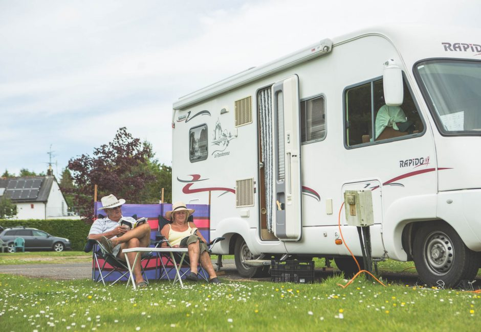 Older visitors at Forest Glade - Motor Homes