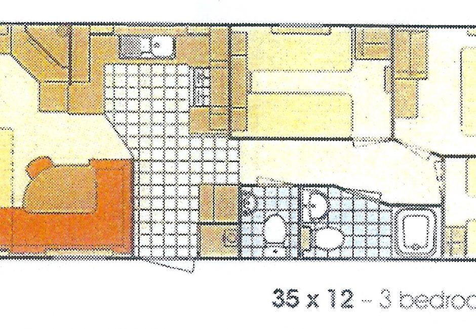 Exe Holiday Caravan - Floor plan