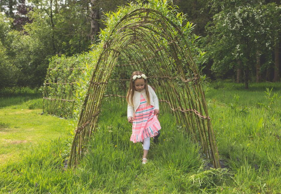 Forest Glade facilities children willow tunnel