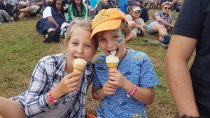 Kids enjoy ice cream