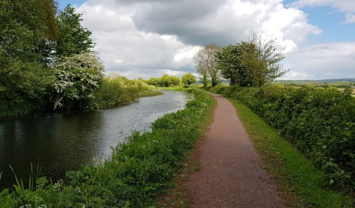 Towpath at Tiverton Canal