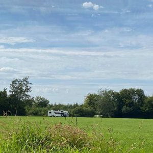 Spacious camping field