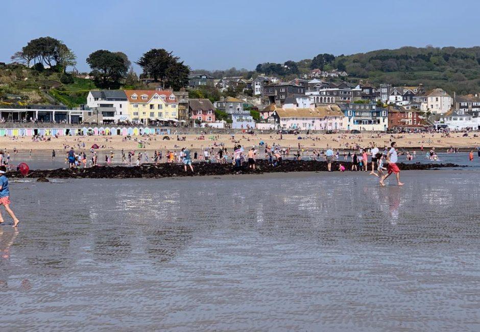 Lyme Regis beach.