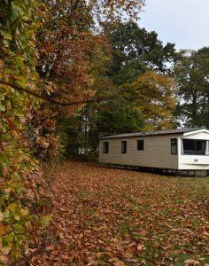 devon holiday park in autumn