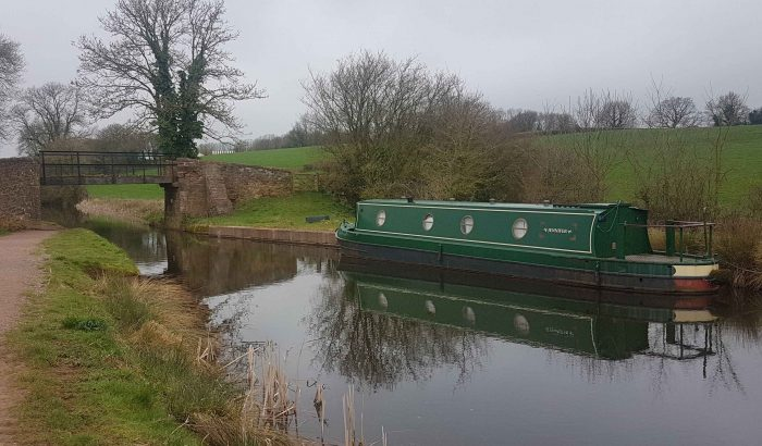 Barge on the Grand Western Canal / Maria Thorne