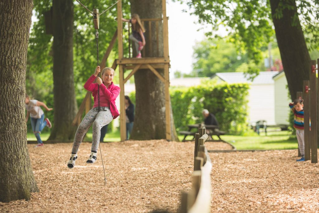 aerial runway - leisure activities at forest glade for all the family